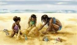 Kids Sandcastles